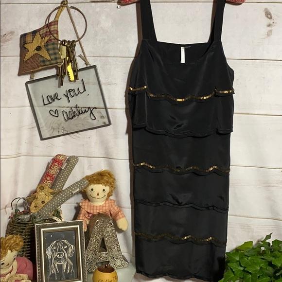 LC Lauren Conrad Dresses & Skirts - Lauren Conrad; Black; Camisole; Midi; Dress;